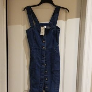 H&M Jean button up dress with pockets
